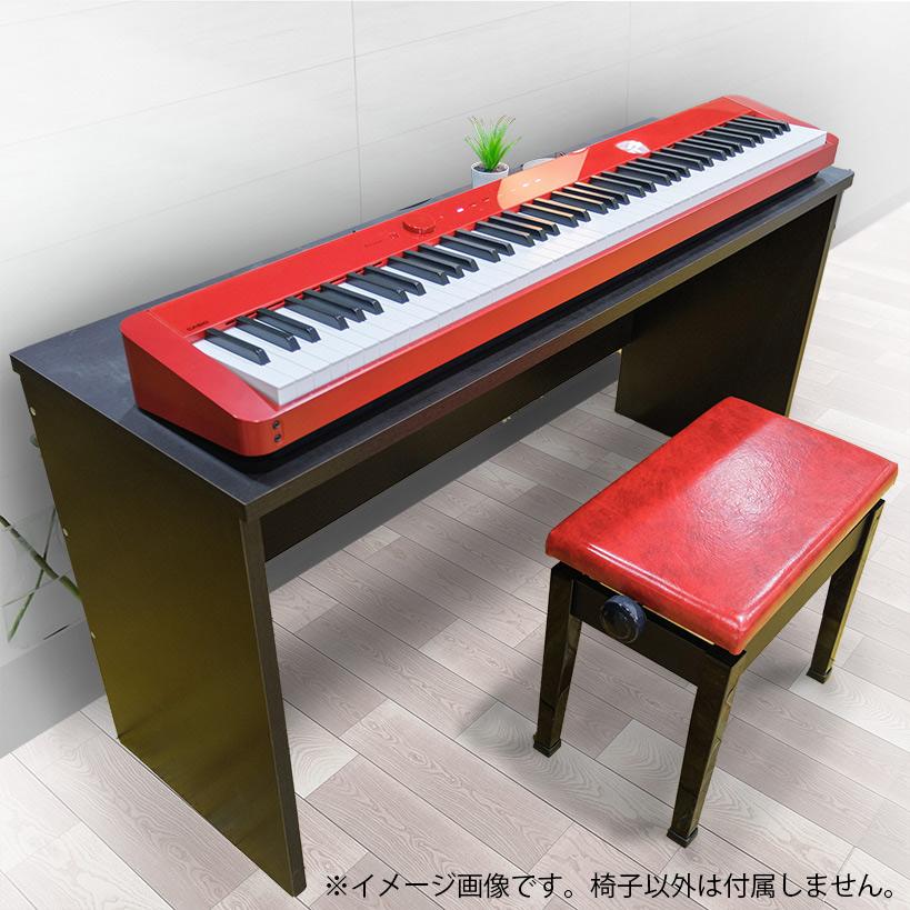 第一楽器オリジナル 甲南 P50 ピアノ椅子 赤レザー仕様 【CASIO PX-S1100のレッド(RD)と相性抜群】