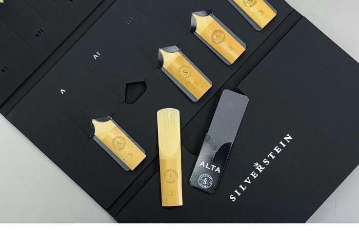 【管楽器リード10枚SET】SILVERSTEIN ALTA Select REEDS ファイルドカット ソプラノサックス/アルトサックス【交換保障付】