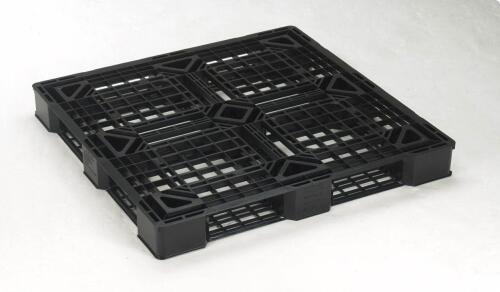 岐阜プラスチック工業 JLパレット(軽量タイプ) JL-D4・1111E4 /JL-D4・1111E6 ブラック