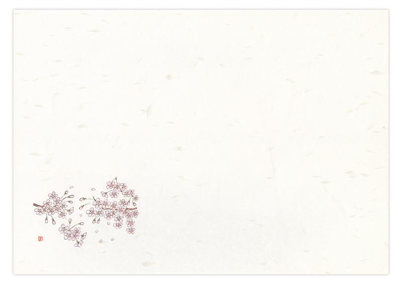 ケナフテーブルマット No.635 桜