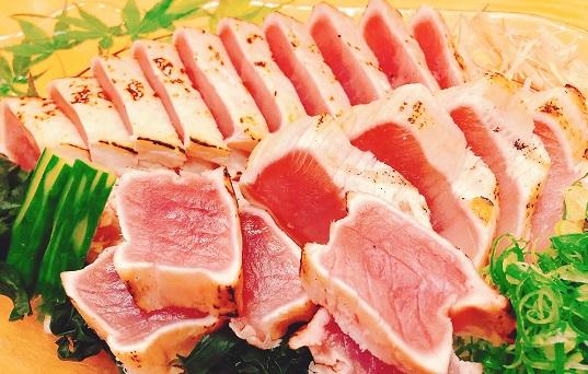 絶品 藁焼き鰹タタキ・びん長まぐろ タタキセット