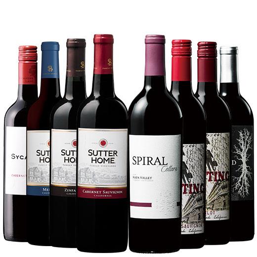 銘醸地ナパ・ヴァレー入り!カリフォルニア赤ワイン8本セット 赤ワインセット