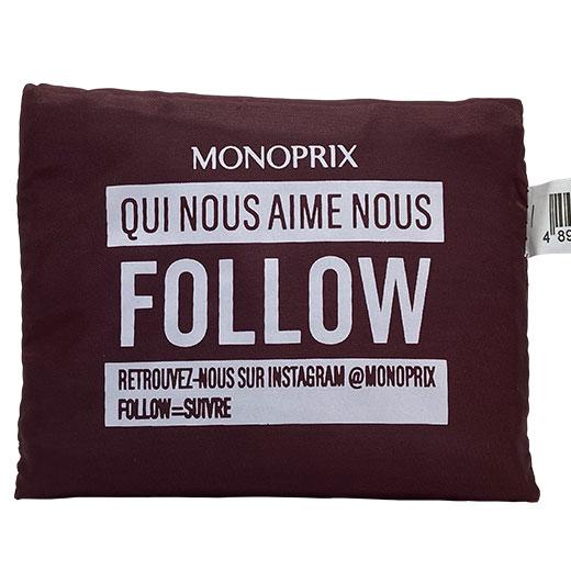 ★ モノプリ エコバッグ 茶 MONOPRIX フランス直輸入!