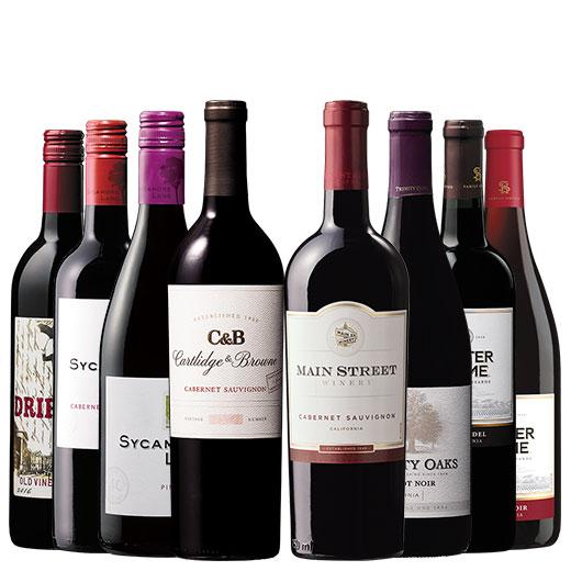 カベルネ&ピノ・ノワール&ジンファンデル カリフォルニア3大品種飲み比べ8本セット 赤ワインセット