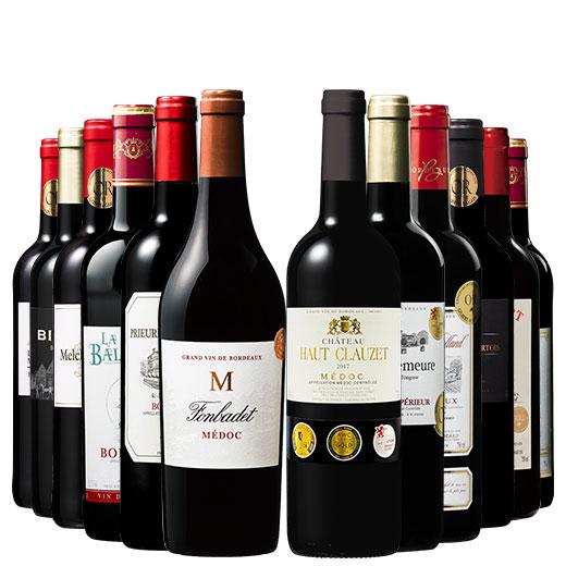 格上メドック&トリプル金賞入り!ボルドー金賞赤ワイン12本セット 赤ワインセット ボルドーワイン カベルネ