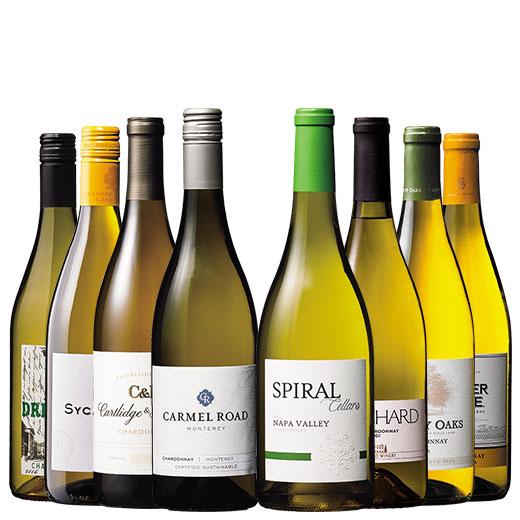 カリフォルニア・ナパワイン入り!シャルドネ飲み比べ8本セット ワインセット 白ワイン