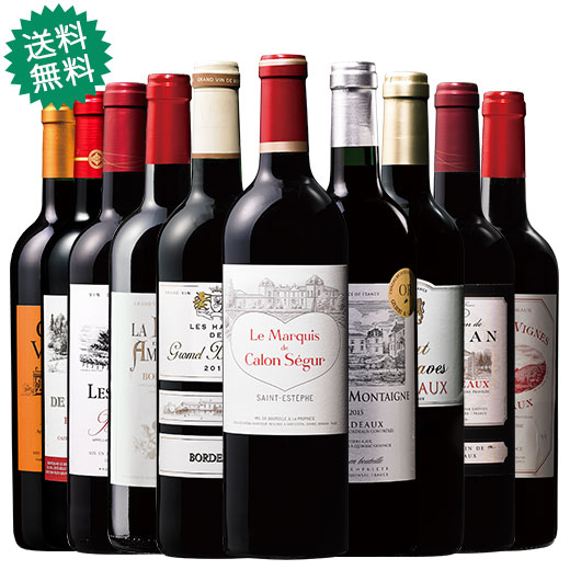 カロン・セギュールのセカンドワイン入り!ボルドー当たり年15&16年赤10本セット 赤ワインセット ボルドーワイン カベルネ