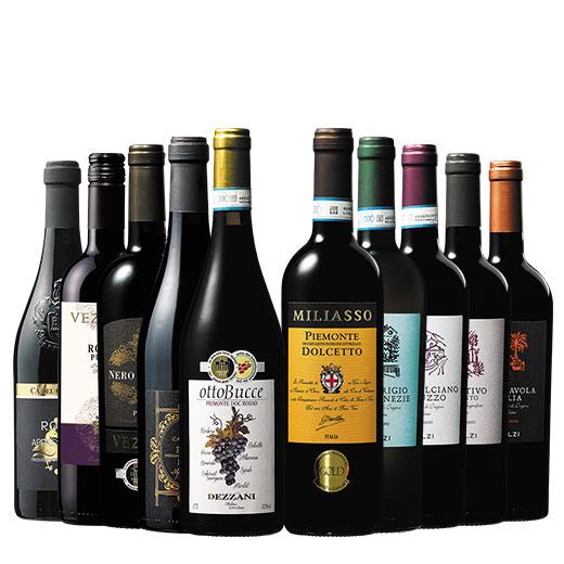 イタリア各地金賞10本セット ワインセット 赤ワイン 白ワイン