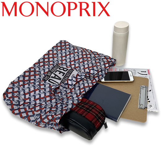 ★ モノプリ エコバッグ 限定柄 ジオエッフェル黄 MONOPRIX フランス直輸入!