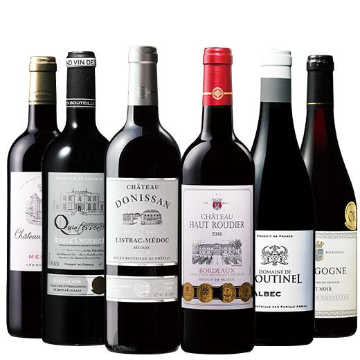 フランス各地格上赤ワイン6本セット 赤ワインセット ボルドーワイン カベルネ