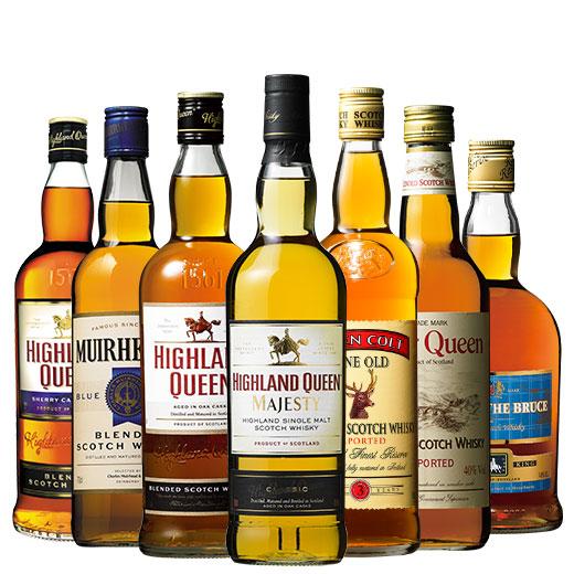 シングルモルト入り!ウイスキー飲み比べ7本セット スコッチウイスキー