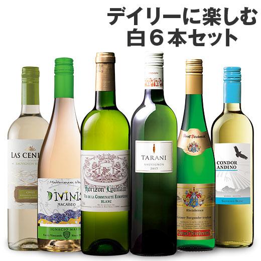 デイリーに楽しむ白ワイン6本 ワインセット チリワイン シャルドネ