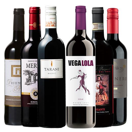 楽しく飲み比べ!赤ワイン6本セット 赤ワインセット 金賞