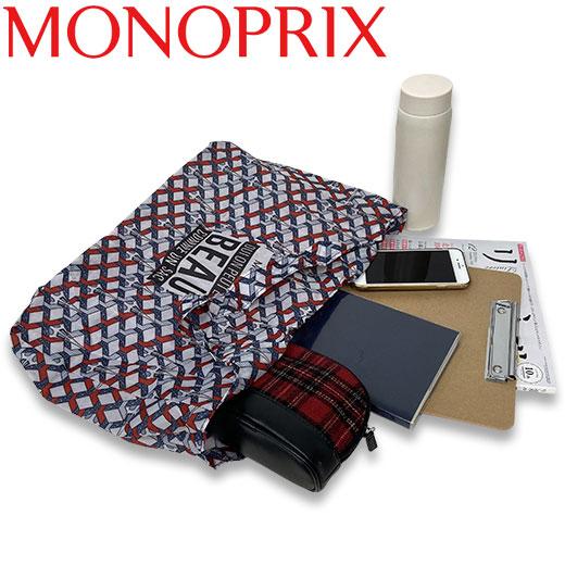 ★ モノプリ エコバッグ 限定柄 エッフェルレッド MONOPRIX フランス直輸入!