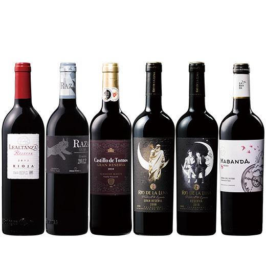 すべて樽熟!スペイン金賞&高評価赤ワイン6本セット ワインセット