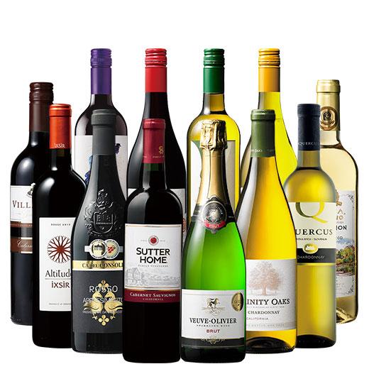 世界のよくばりパーティーボックス赤白泡12本セット ワインセット 金賞 スパークリングワイン