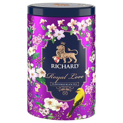 ★ 20%OFF! ロイヤル・ハート&ロイヤル・ラブ 2缶セット 紫 紅茶 (リーフ) Richard Tea リチャードティー