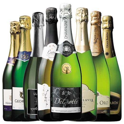 金賞シャンパーニュ入り!三大銘醸国のスパークリング8本セット ワインセット 金賞 スパークリングワイン ピノ・ノワール