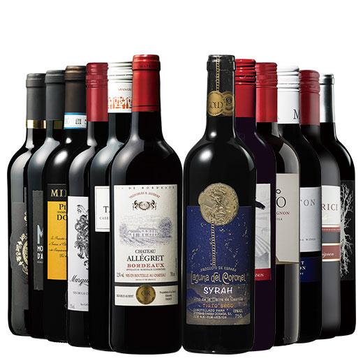 銘醸地ボルドー&トリプル金賞入り!世界8カ国赤ワイン飲み比べ12本セット 赤ワインセット ボルドーワイン カベルネ