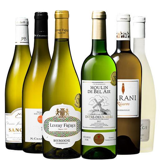 ソムリエ厳選フランス各地白ワイン6本セット ワインセット 金賞 ブルゴーニュ