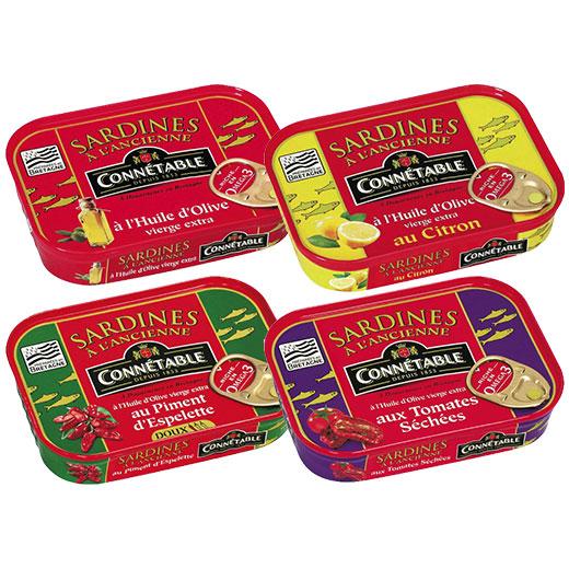 ★ オリーブオイルサーディン 4種4缶セット コネタブル