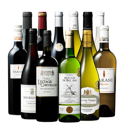 ソムリエ厳選フランス各地赤白ワイン12本セット ワインセット 金賞 赤ワイン 白ワイン