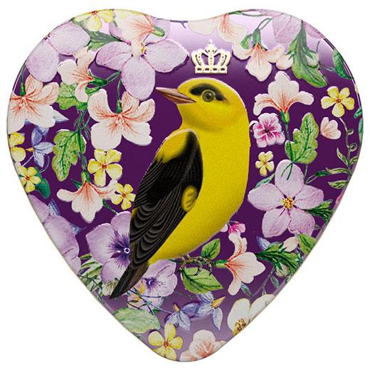 ★ ロイヤル・ハート ベルガモット&バニラ 紅茶 ハート缶 30g 紫 (リーフ) Richard Tea リチャードティー