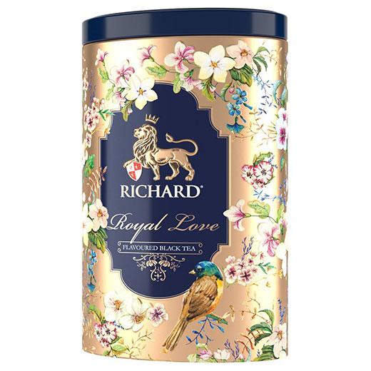★ ロイヤル・ラブ ベルガモット&バニラ 紅茶 オパール缶 80g ゴールド (リーフ) Richard Tea リチャードティー