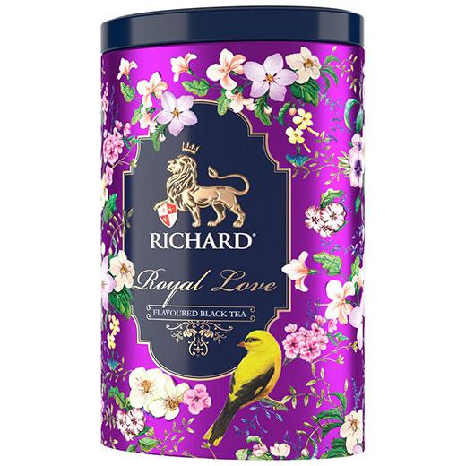 ★ ロイヤル・ラブ ベルガモット&バニラ 紅茶 オパール缶 80g 紫 (リーフ) Richard Tea リチャードティー