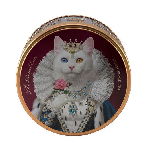 ★ ロイヤルキャット缶 オッドアイ(白猫) セイロンティー 30g 紅茶 (リーフ) Richard Tea リチャードティー