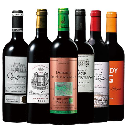 すべて樽熟成!ボルドー赤ワイン6本セット