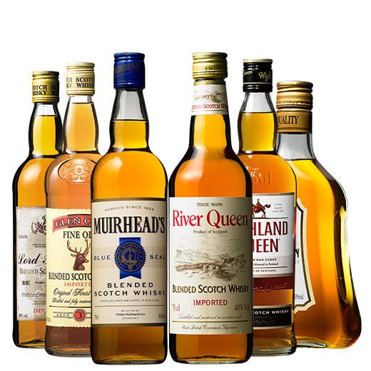 独占輸入ウイスキー6本セット スコッチウイスキー カナディアンウイスキー