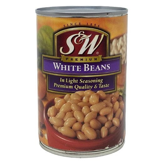 ★ ホワイトビーンズ缶 白いんげん豆 425g S&W