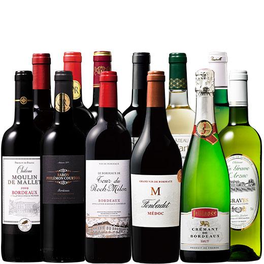 格上メドック&金賞クレマン入り!全て金賞!至福のボルドー赤白泡12本セット ワインセット 金賞 スパークリングワイン 赤ワイン 白ワイン 赤白泡