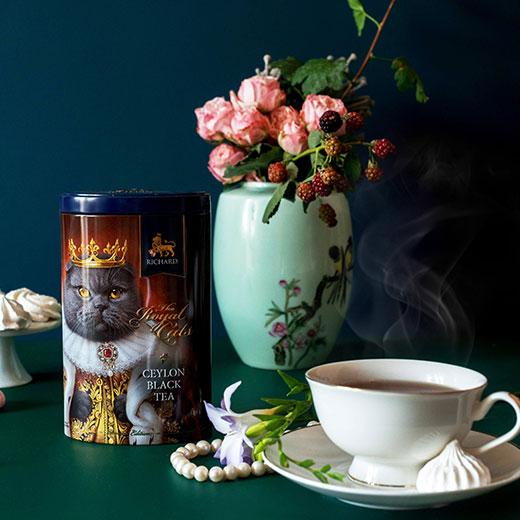 ★ 20%OFF! ロイヤルキャット缶 スコティッシュフォールドセット 紅茶 (リーフ) Richard Tea リチャードティー
