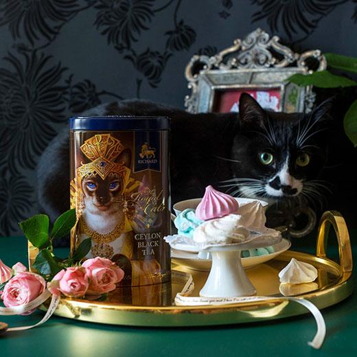 ★ 20%OFF! ロイヤルキャット缶 シャム猫セット 紅茶 (リーフ) Richard Tea リチャードティー