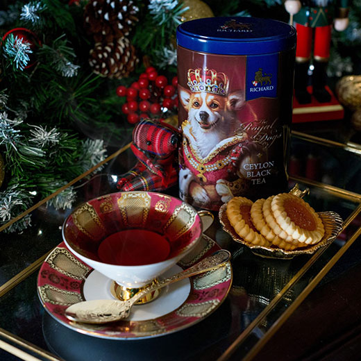 ★ ロイヤルドッグ缶 コーギー セイロンティー 80g 紅茶 (リーフ) Richard Tea リチャードティー