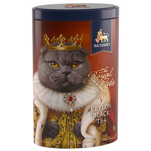 ★ ロイヤルキャット缶 スコティッシュフォールド セイロンティー 80g 紅茶 (リーフ) Richard Tea リチャードティー