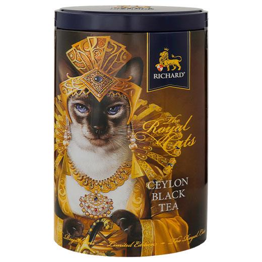 ★ ロイヤルキャット缶 シャム猫 セイロンティー 80g 紅茶 (リーフ) Richard Tea リチャードティー