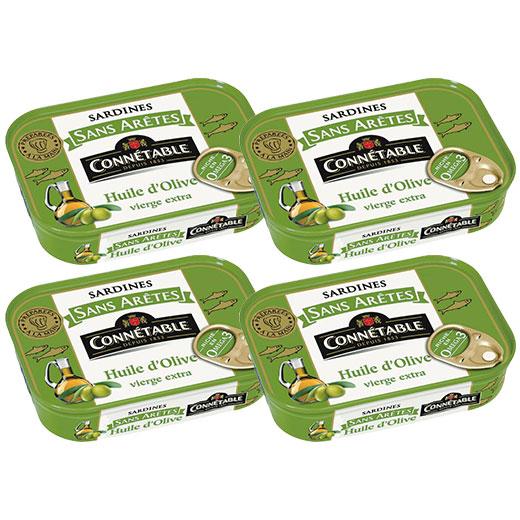 ★ オリーブオイルサーディン(骨なし) 140g ×4缶セット コネタブル