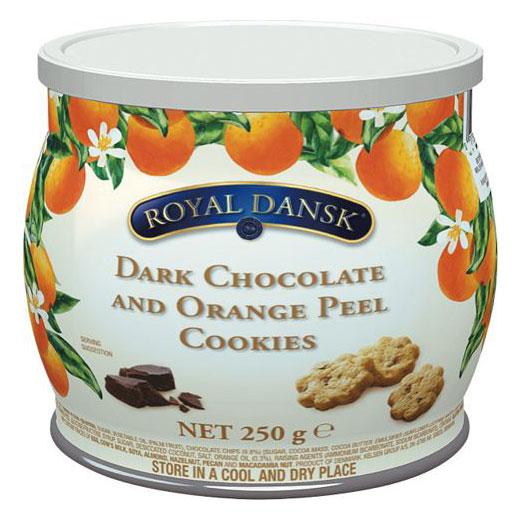 ダークチョコ&オレンジピールクッキー ロイヤルダンスク 250g ケルセン