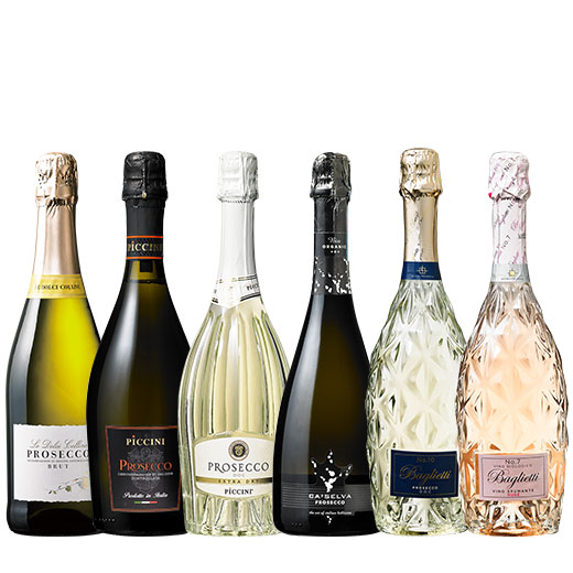 ダブル金賞入りプロセッコ5本&オーガニック・ロゼ泡1本のセット ワインセット ワイン スパークリングワイン