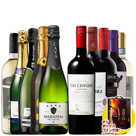 大容量ボックスワイン付き!世界の赤白泡ワイン10本セット ワインセット 金賞 スパークリングワイン