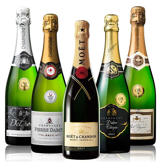 超有名モエシャン&高級辛口シャンパーニュ飲み比べ豪華5本セット モエ・エ・シャンドン ワインセット 金賞 スパークリングワイン