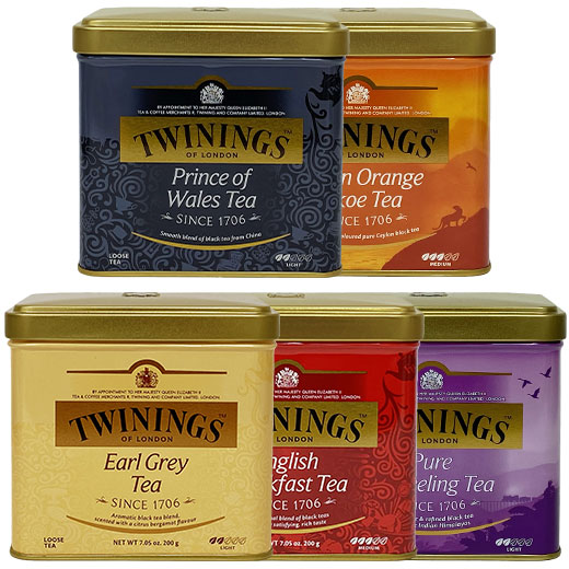 15%OFF! トワイニング紅茶5缶セット