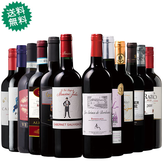 ダブル金賞入り!世界5ヵ国の赤ワイン飲み比べ12本セット 赤ワインセット 金賞 イタリア カベルネ