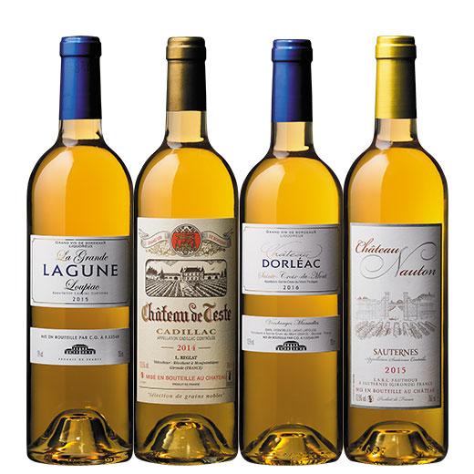 ソーテルヌ入り!ボルドー貴腐ワイン4アペラシオン飲み比べ4本セット ワインセット