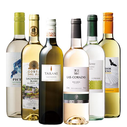 47%OFF!デイリーに楽しむ白ワイン6本セット ワインセット チリワイン シャルドネ