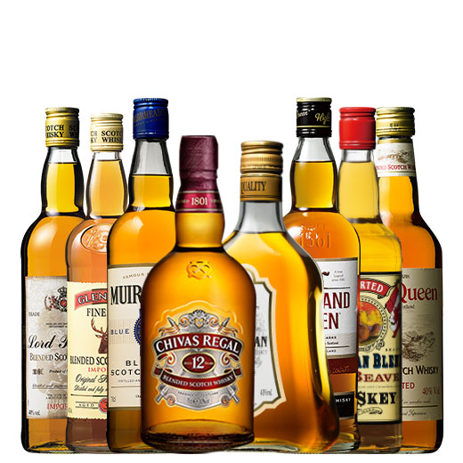 名門ブランドシーバス・リーガル12年入り!ウイスキー8本セット スコッチウイスキー カナディアンウイスキー