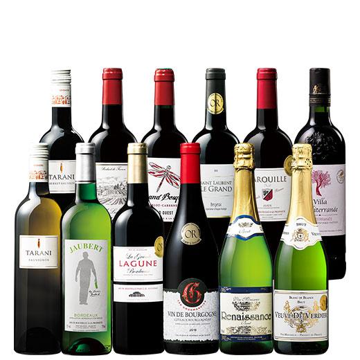 銘醸地ボルドー&ブルゴーニュ&トリプル金賞入り!フランス金賞赤白スパークリング12本セット ワインセット 金賞 スパークリングワイン 赤ワイン 白ワイン